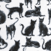 Cats - Furry Cats Milk Yardage