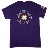 Missouri Star Circle Logo Round Neck T-Shirt - 10th Anniversary Purple - Small