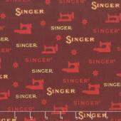 Sewing with Singer - Sewing Red Metallic Yardage
