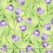Garden Gathering - Tulips Green Yardage