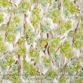 Oasis - Driftwood Garden Aloe Metallic Yardage
