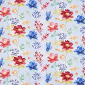 Garden Charm - Large Floral Blue Yardage