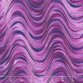 Pansy Noir - Breezy Wave Berry Metallic Yardage