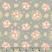 Apricot & Ash - Spring Blooms Ash Yardage