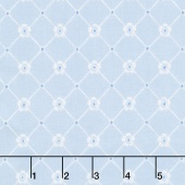 Afternoon in the Attic - Sweet Eyelet Bluebell Yardage