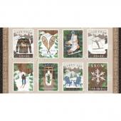 Pine Cone Lodge - Flannel Panel