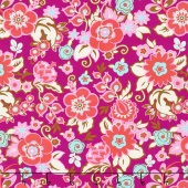 Soul Mate - Grand Bouquet Plum Yardage