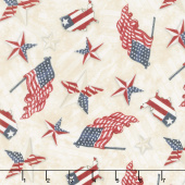 American Valor - Patriotic Toss Tan Yardage