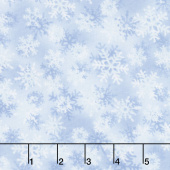 Santa's Sled - Blue Snowflakes Yardage