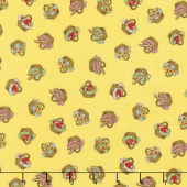 Little Red Riding Hood - Baskets Yellow Yardage