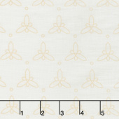 Gypsy - Tri Petals Cream Yardage