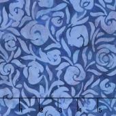 Tiki Batiks - Floral Swirl Marine Yardage