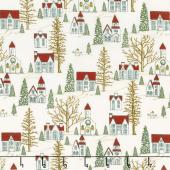 Winter Village - Winter Village White Paper Yardage