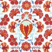 Mirage - Pomegranate Whisper White Yardage