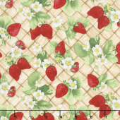 Ambrosia Farm - Berry Picking Tan Fabric Yardage