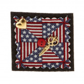 Sew Happy Patriotic Pinwheel Quilter's Pin