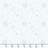 A Magical Christmas - Snowflakes Allover White Blue Yardage