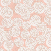 Bliss - Roses Blush with Rose Gold Sparkle Yardage