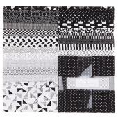 "Black & White 10"" Squares"