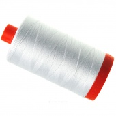 Aurifil 50 WT Cotton Mako Large Spool Thread White