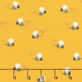 What do the Animals Say? - Bees Sunflower Yardage