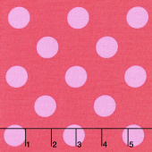 Tula Pink's All Stars - Pom Poms & Stripes Poppy Yardage