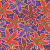 Kaffe Fassett Collective Spring 2018 - Dark Lacy Leaf Red Yardage