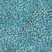 "108"" Wide Back Batik - Abstract Rose Teal Backing"