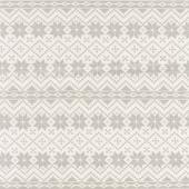 Nordic Christmas - Snowflake Stripe Cream Grey Yardage