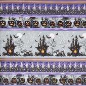 Hocus Pocus - Halloween Stripe Metallic Yardage
