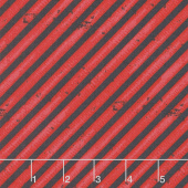 Detour Ahead! - Diagonal Stripe Red Yardage