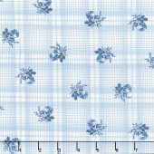 Mackinac Island - Printed Plaid Blue Yardage