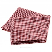 Tea Towel - Mini Check Red and White