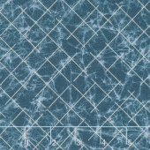 Winter Shimmer 2 - Frost Grid Starry Night Pearlized Yardage
