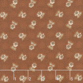 Cheddar & Chocolate - Cheddar Blossom Brown Yardage