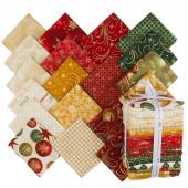 Winter's Grandeur 6 Holiday Metallic Fat Quarter Bundle
