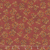 Idaho Prairie Star - Star Dot Floral Red Yardage