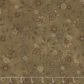 Tickled Pink - Lacey Floral Brown Yardage
