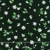 Splash of Lemon - Tossed Lemon Flowers Black Yardage