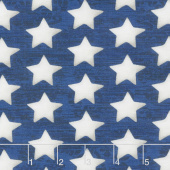 America the Beautiful - Set Stars Blue Yardage