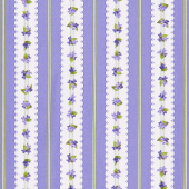 Elizabeth - Stripes Purple Yardage
