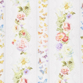 Butterfly Haven - Repeating Stripe Multi Yardage