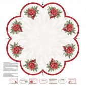 The Scarlet Feather - Cardinal Table Topper and Tree Skirt Digitally Printed Panel