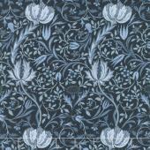 Morris Garden - Flora 1891 Indigo Yardage
