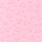 "Cuddle Embossed Heart - Blush 60"" Minky Yardage"