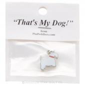Terrier Charm Profile White