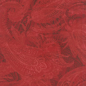 """108"""" Quilt Back - Paisley Red 108"""" Wide Backing"""
