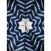 Kantha Starburst Indigo Throw