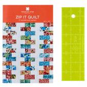 "Missouri Star 2.5"" x 8"" Ruler & Zip it Quilt Pattern Bundle"