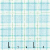 Abby Rose - Plaid with Ease Seafoam Yardage